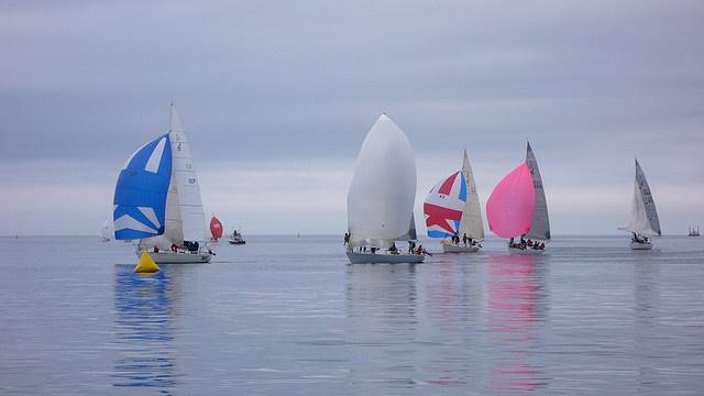 Racing in Bedford Basin, Nova Scotia
