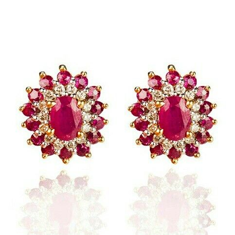 Colour blasts of rich ruby gemstones, the perfect gift for any occasion #jewellery #ruby