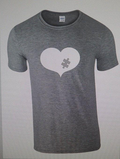 Autism Tshirt Autism Shirt Autism heart Tshirt by 3Feathersdesigns