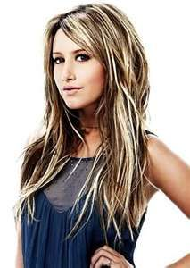 Hair color - dark hair with blonde highlights I wish my hair would do this! But I can't seem to get that blonde.