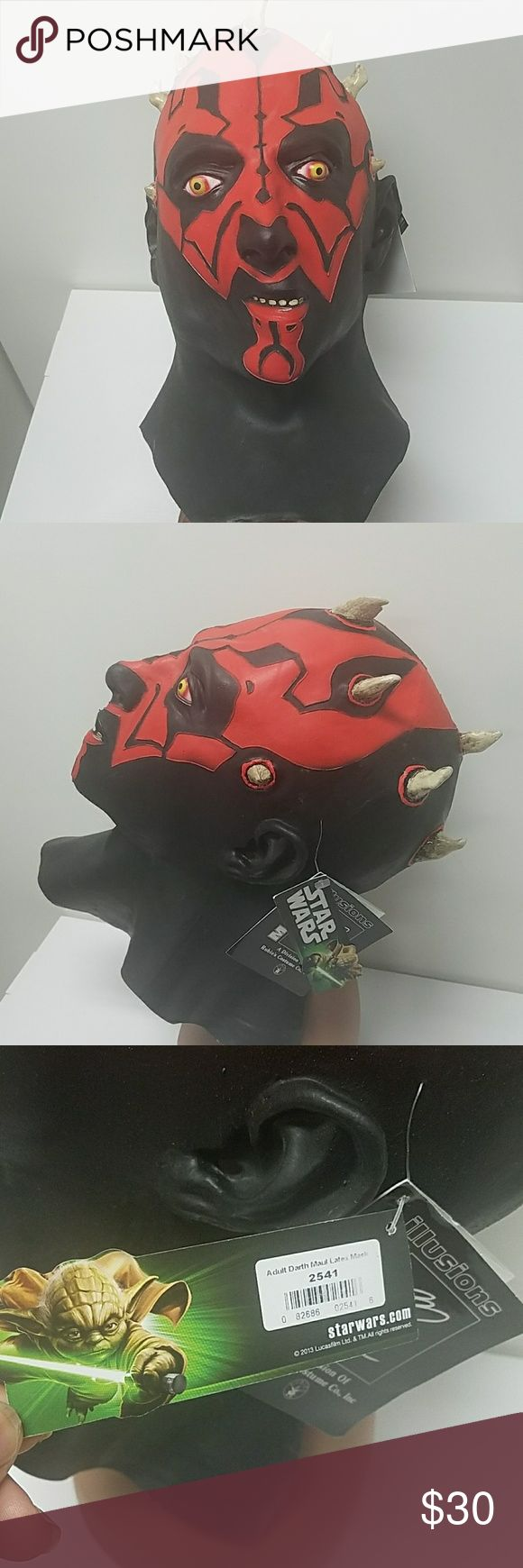 Star Wars Darth Maul adult mask. This mass is in good used condition. Please refer to the pictures. Star Wars mask Other