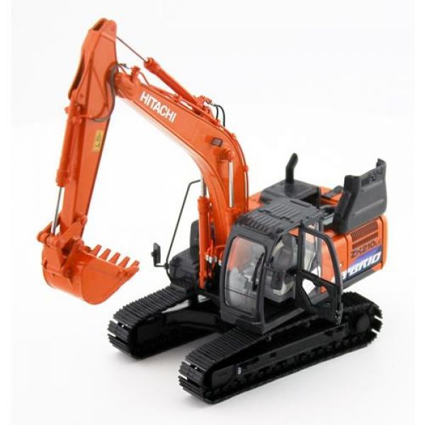 Hitachi  ZH210LC  Hybrid  Hydraulic Excavator metal Moveable Tracks Body Rotates Moveable Boom and Bucket 1:50 Scale TMC Scale Models part no TMC 210LCH