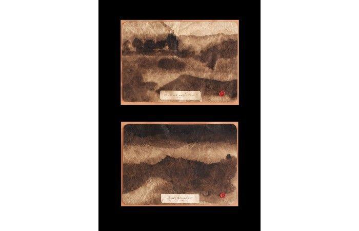 LOT 47  ION BITZAN (BIȚAN) Rainy sequences Watercolour and ink on paper Estimate €600 - €800  #lavacow #contemporary #art #bitzan