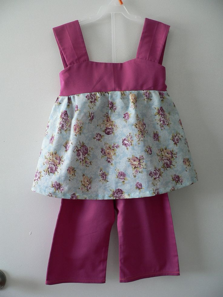 Girls Summer Capri outfit by SweetPlumsDesigns on Etsy