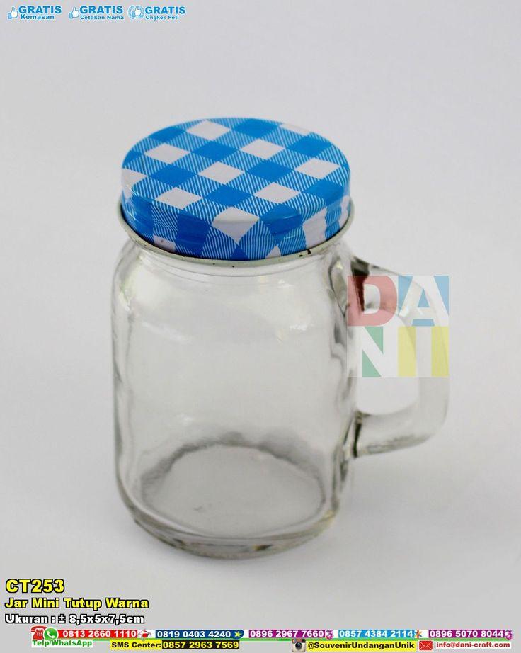 Jar Mini Tutup Warna | Souvenir Pernikahan