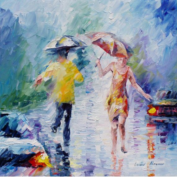 Original Recreation Oil Painting on Canvas This is the best possible quality of recreation made by Leonid Afremov in person  Title: Washed By