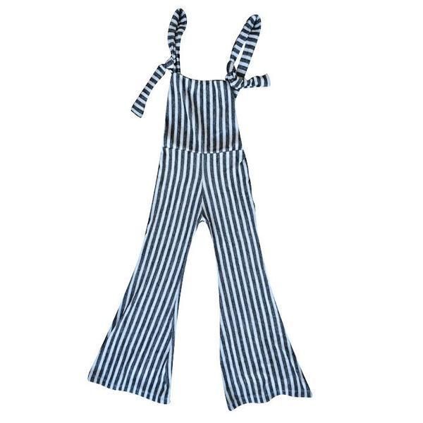 Women's Chelsea Striped Knit Stretch Overalls – harlowjade