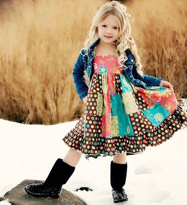 vestido niñas con retales de otros vestidos...