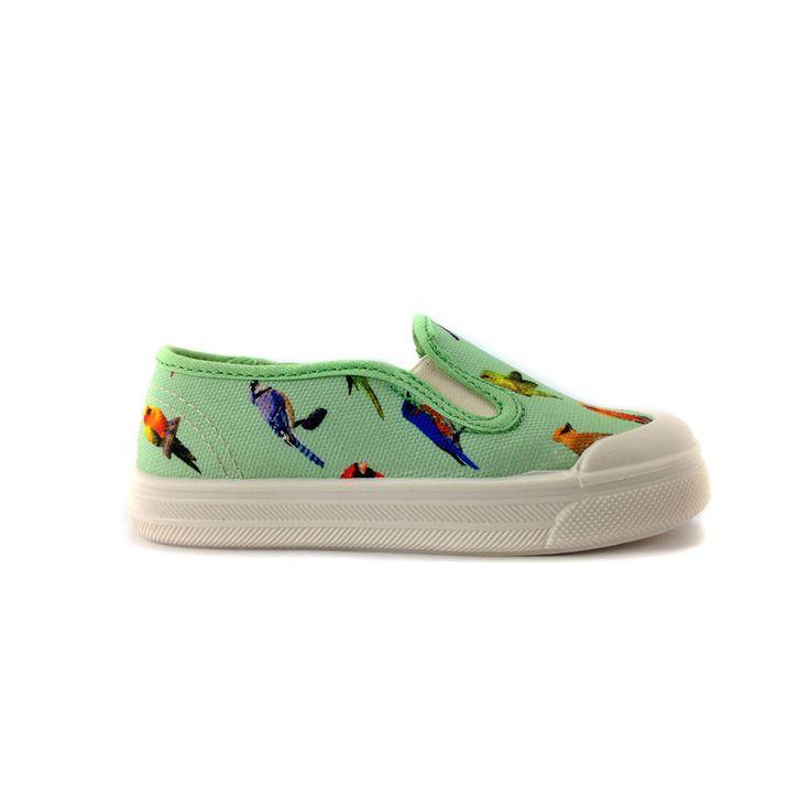 Annapops - hippe kinderschoenen - Pèpè - sneaker - Van-model met vogels