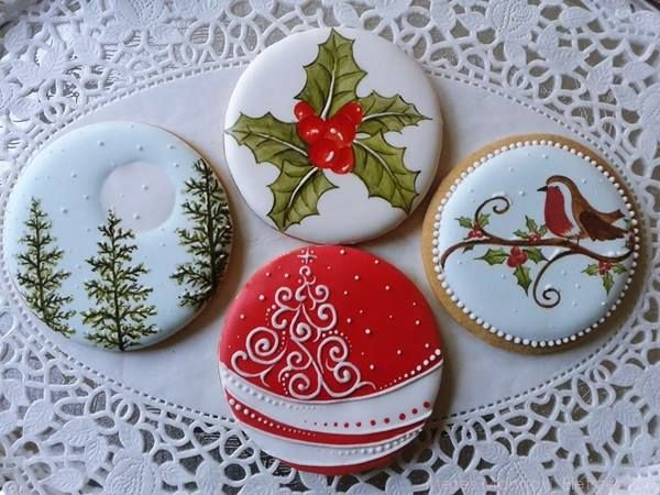 Christmas Cookies - these would also translate beautifully to a cake by Kathleen Shea