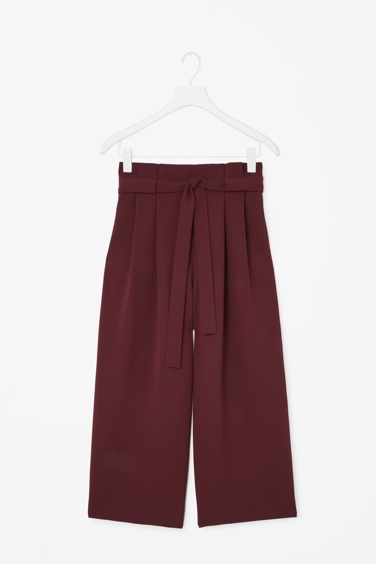 COS | Wide waist pleated trousers