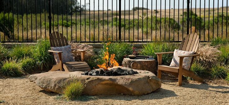 incredible stone firepit grace design associates outdoor fire