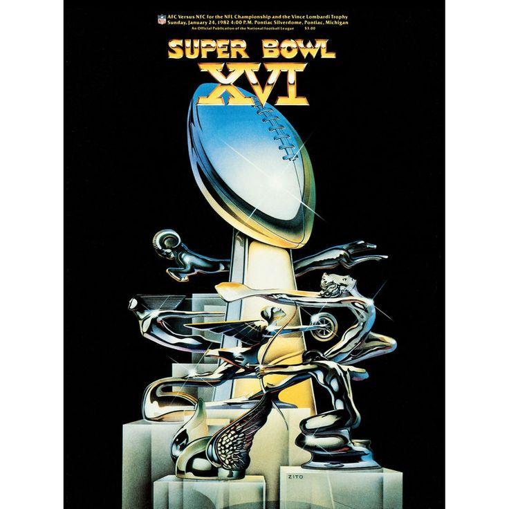 """Fanatics Authentic 1982 49ers vs. Bengals 36"""" x 48"""" Canvas Super Bowl XVI Program"""
