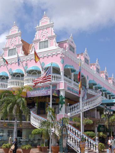 """Dutch Caribbean. ARUBA """"A little shopping downtown"""" This is such a pretty"""