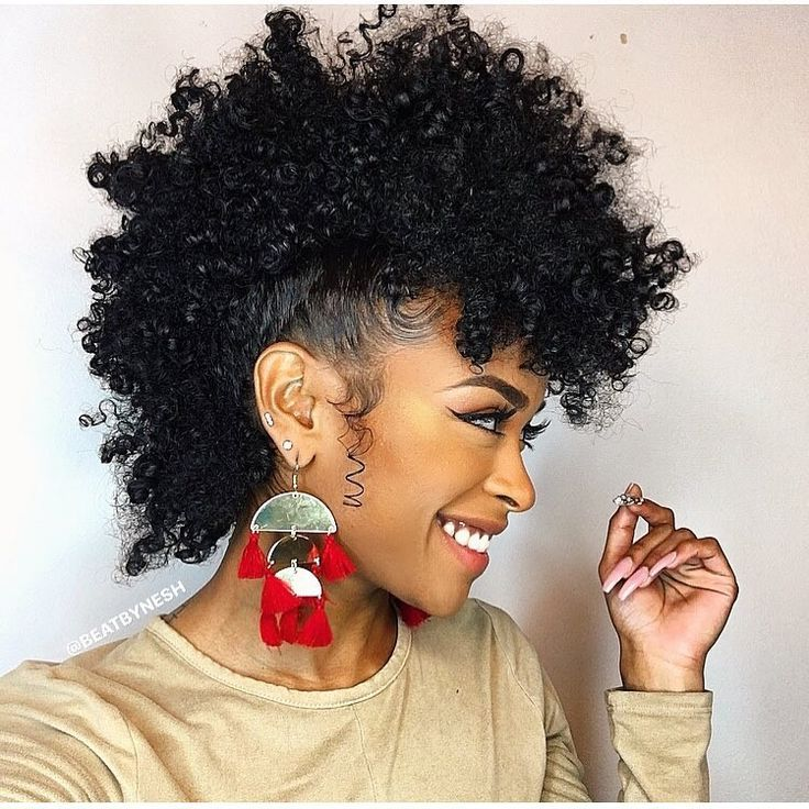 Frohawk Hairstyle A Popular Mohawk Derivative For Curly Girls Natural Hair Mohawk Natural Hair Styles Curly Hair Styles