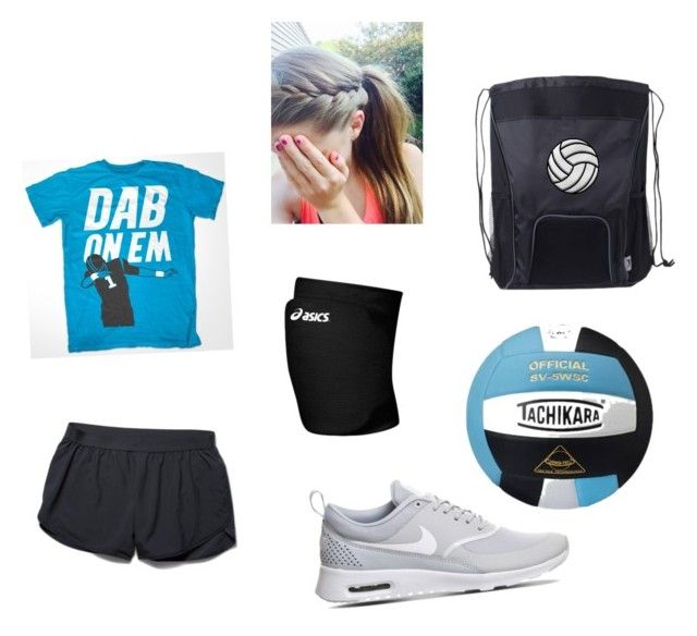 """""""Volleyball Practice 2!"""" by bubbalaverty on Polyvore featuring Under Armour, NIKE, Asics, women's clothing, women, female, woman, misses and juniors"""