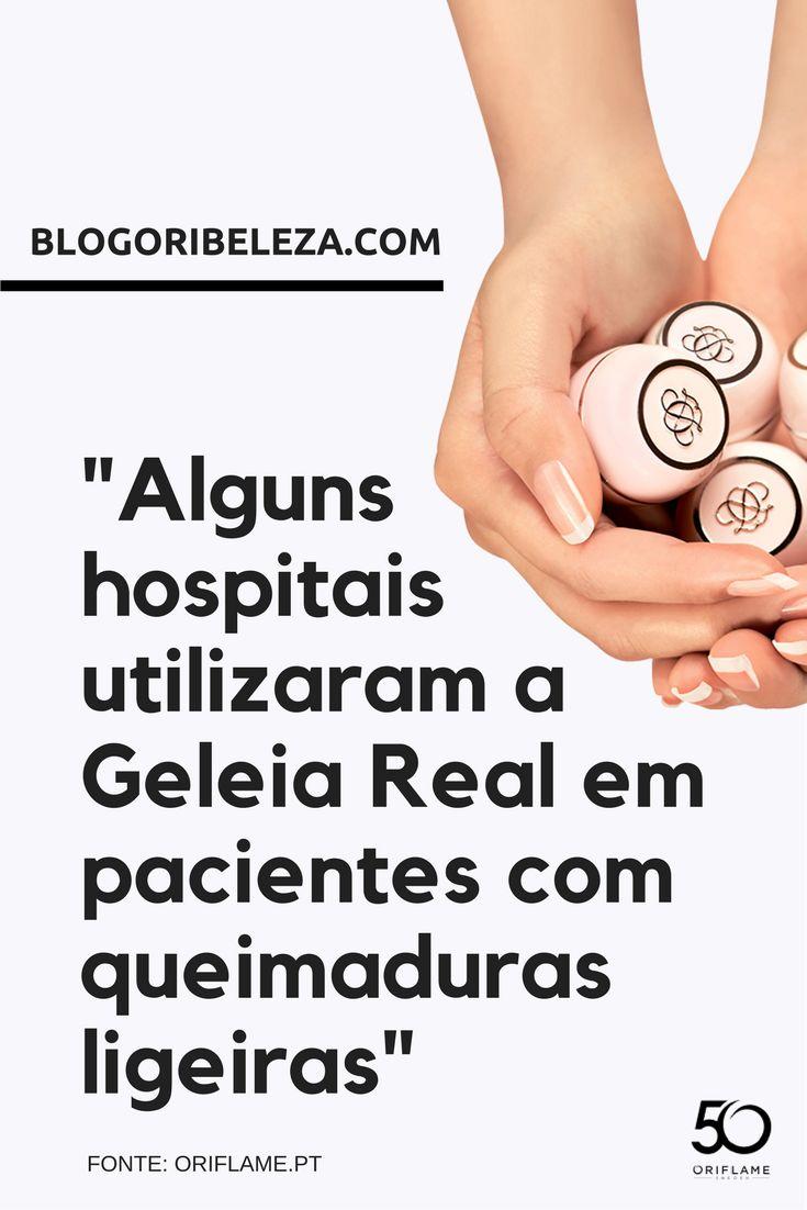"""""""Alguns hospitais utilizaram a Geleia Real em pacientes com queimaduras ligeiras""""."""