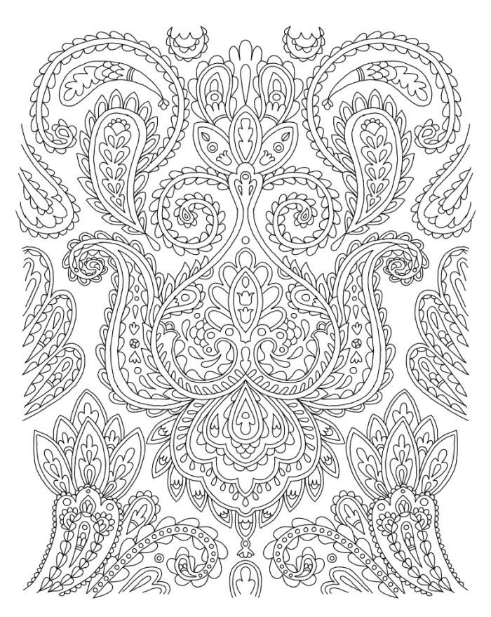 666 best coloring paisley images on pinterest coloring for Paisley designs coloring pages
