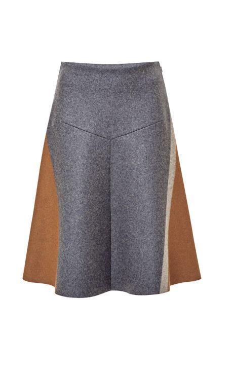Shop Wool-Blend A-Line Skirt by Derek Lam Now Available on Moda Operandi