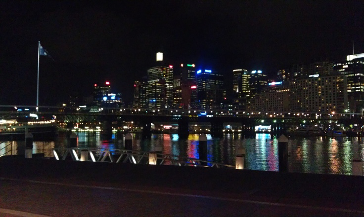 Darling Harbor, on a gorgeous night.