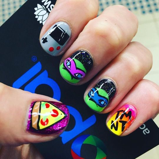 55 Best Cartoon And Anime Nails Images On Pinterest