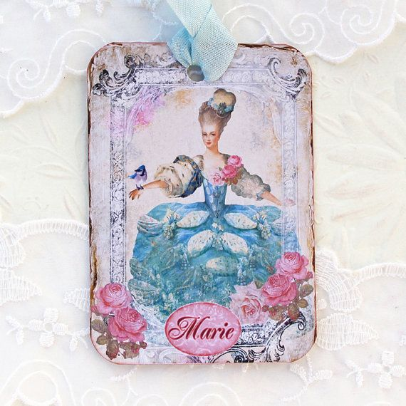 Marie Antoinete Tags Gift Hang Bridal Shower by EnchantedQuilling