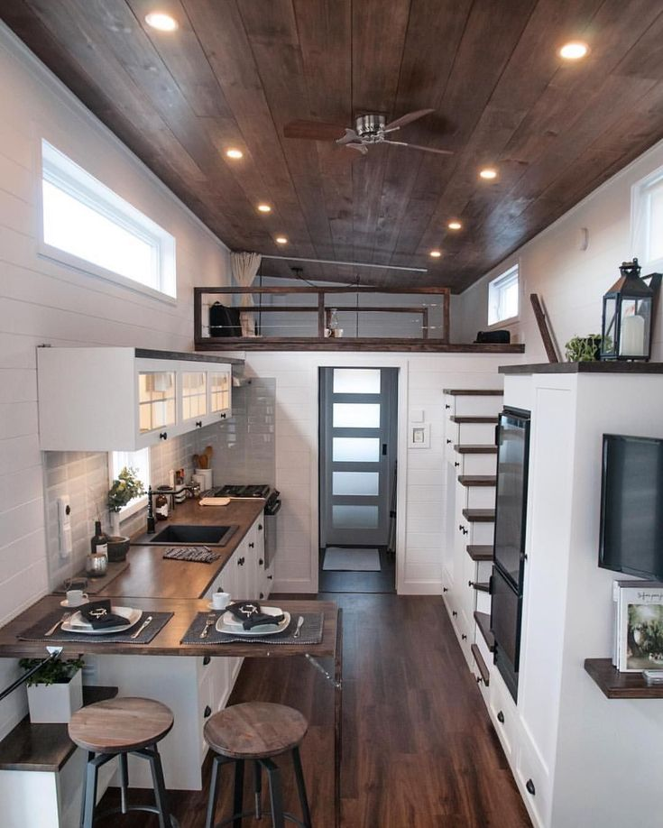 """17.7k Likes, 227 Comments - Tiny Houses (@tinyhouse) on Instagram: """"Could you imagine living here? The """"Laurier"""" Tiny House in Quebec, Canada Photo by @j_p_marquis…"""" #tinyhomeonwheelsdiy"""