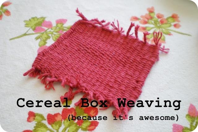 Barnum's Winter: DIY Cereal Box Weaving