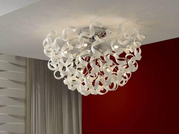 Plafones modernos modelo NOVA blanco. Iluminacion Beltran, tu tienda de iluminacion en Internet.