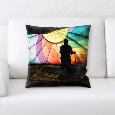 Ebern Designs Laughlin Hot Air Balloon (9) Throw Pillow | Throw Pillows,  Pillows And Products