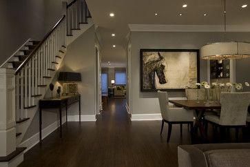 sherwinwilliam pavillion beige | contemporary dining room design by chicago interior designer Michael ...