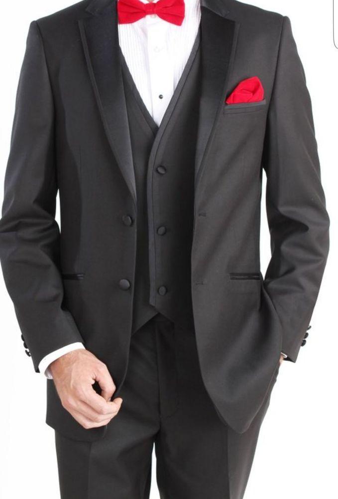 Black Tuxedo for Men by Giorgio Fiorelli modern  fit no pleat vested  #GIOGRIOFIORELLI #TwoButton