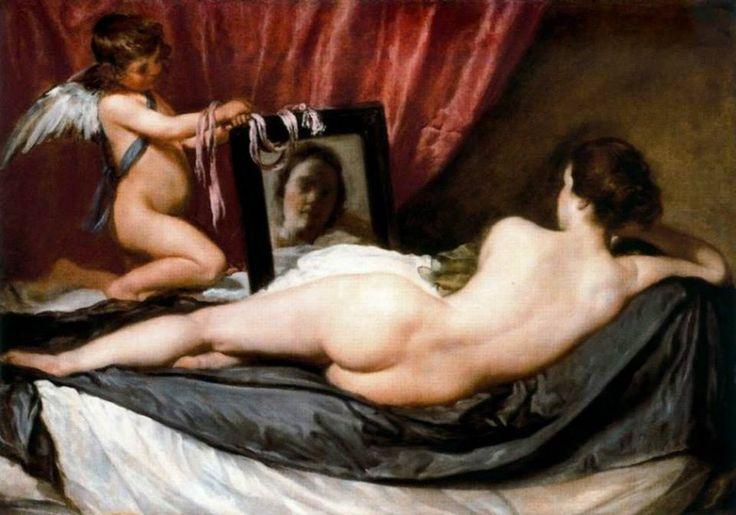 """""""Venus del Espejo"""" realizado por Diego Velázquez entre los años 1647 y 1651"""