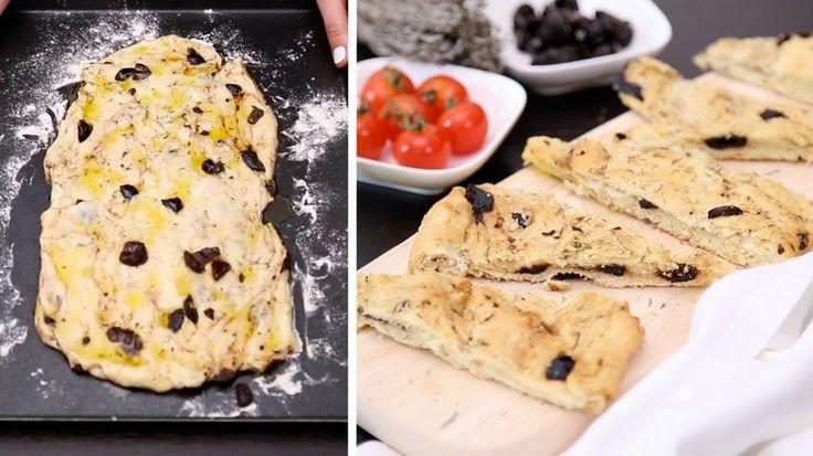 Original italienisches Rezept: Focaccia mit Oliven ist immer eine gute Wahl!