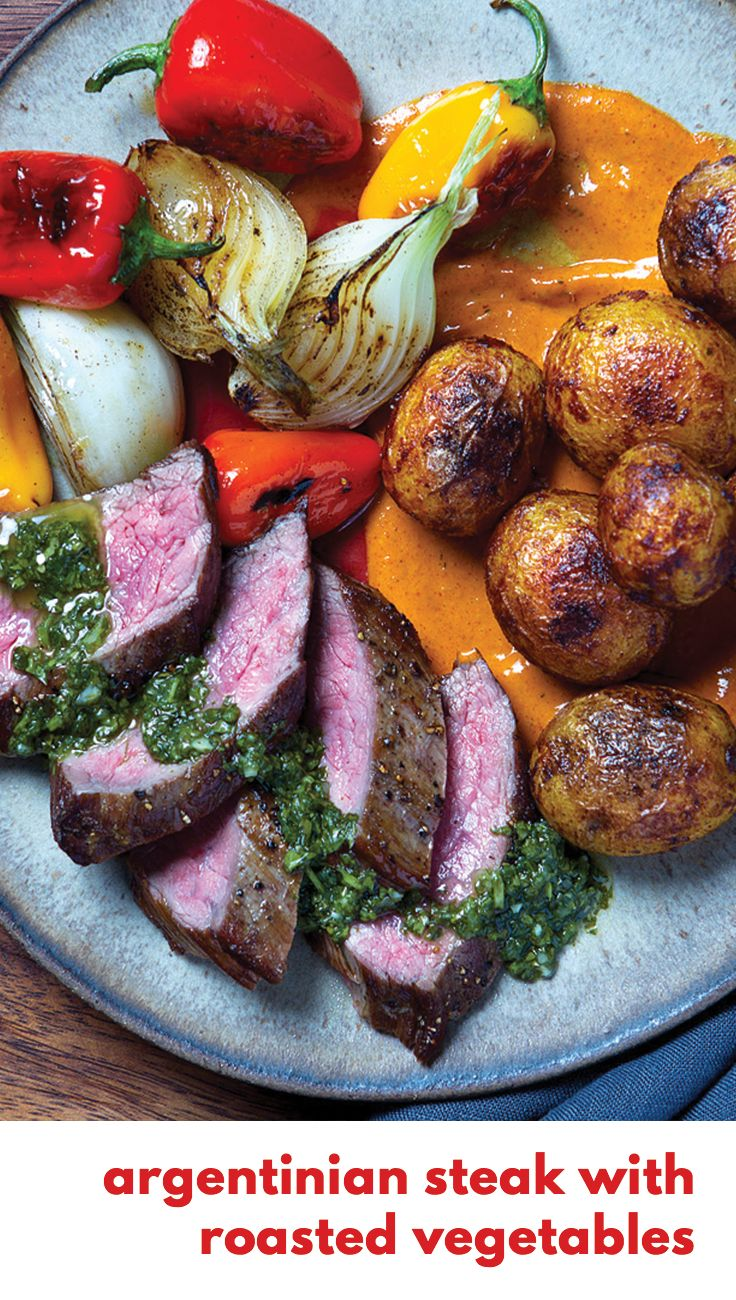 Gobble | Argentinian Steak with Roasted Vegetables | Fresh & Simple Ingredients | 15 Minute Dinners | Dinner For Two | Meals For The Family | Quick and Easy Recipes | New Recipes To Try | Cook At Home | Fresh Ingredients | What To Have For Dinner | Dinner Recipes | Easy Dinner Recipes | $50 OFF | Food Delivery | Meal Delivery Kit | Home Food Delivery | Gourmet Meals
