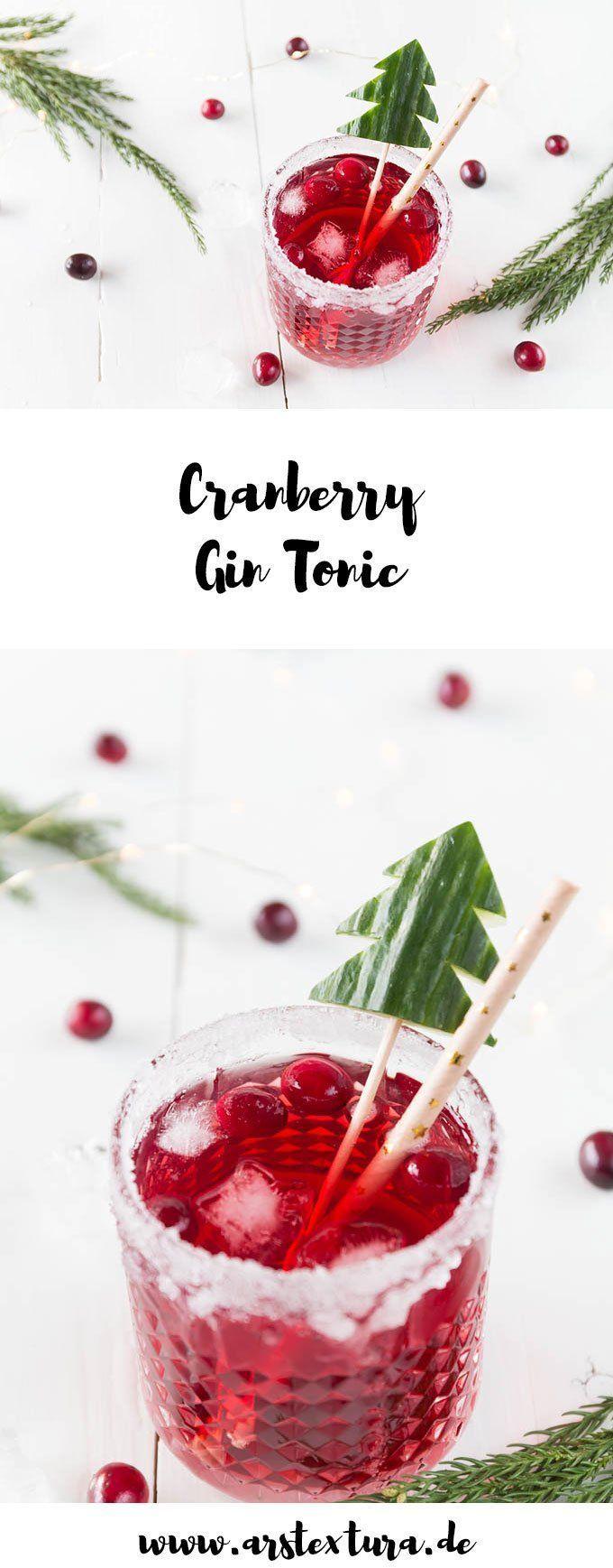Weihnachtlicher Cranberry Gin Tonic – Aperitif zum Weihnachtsmenü