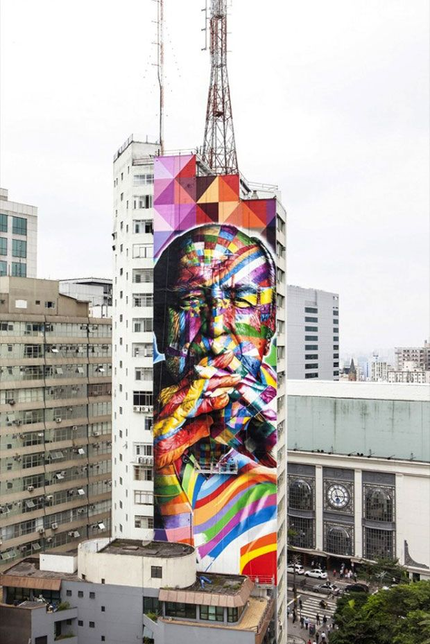 A city of color — Artist Eduardo Kobra marks Sao Paulo with Oscar Niemeyer