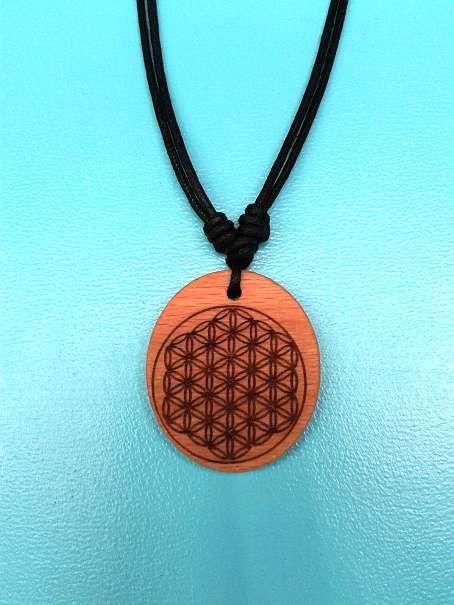 "Blume des Lebens Anhänger aus Holz *Flower of life"" wooden pendant"