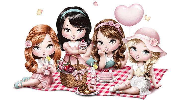 Pin de Марина em Рисунки на майках | Jolie desenho, Boneca ...