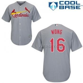 http://www.xjersey.com/cardinals-16-kolten-wong-grey-youth-cool-base-jersey.html CARDINALS 16 KOLTEN WONG GREY YOUTH COOL BASE JERSEY Only $43.00 , Free Shipping!