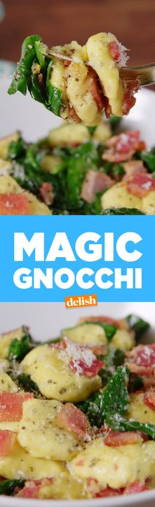 This low-carb Magic Gnocchi has no pasta in it at all. Get the recipe from Delish.com.