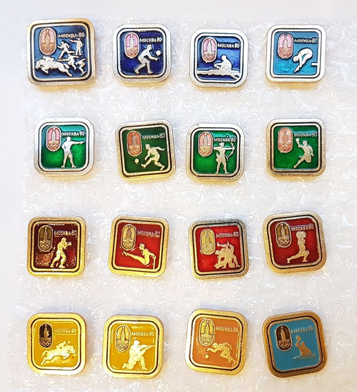Olympic Games 80 Moscow Pin Badge Set 16pcs USSR 1980 by Olympiad80 on Etsy