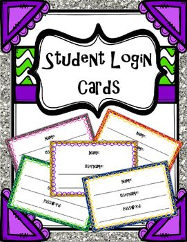 How many of your students forget their login information?  Keep these nearby so students have access to them without having to ask you every time!