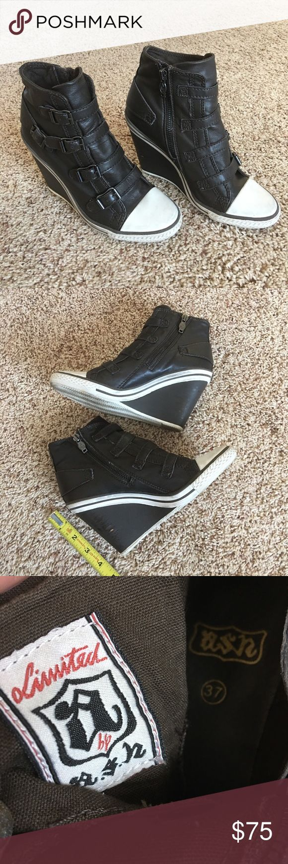 Authentic Ash Wedge Sneakers Authentic! Beautiful Ash wedge sneakers 💕 Size 37 and very comfortable! These are used with marks/scratches and in good condition. NO TRADE ❌ Ash Shoes
