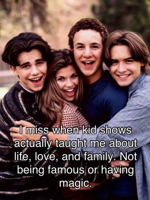 Wish more shows were like boy and girl meets world