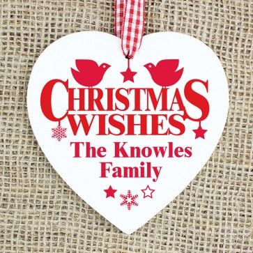 personalised christmas heart wooden http://www.personalise.co.uk/wooden-heart-decoration-wishes