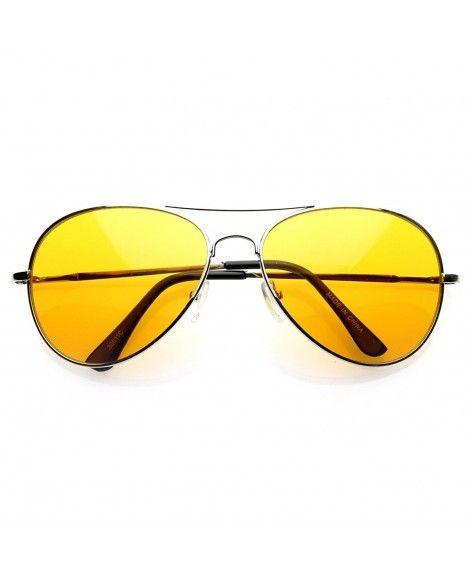 b51e45264e Colorful Premium Silver Metal Aviator Color Lens Sunglasses Mens - Orange -  CE117MDLUZT