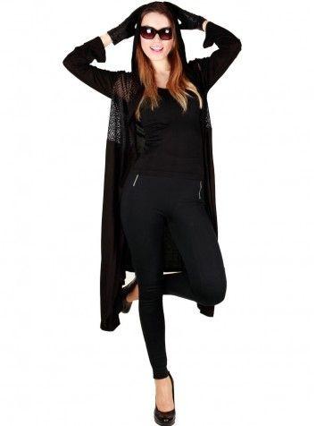Bayan Hırka Siyah - Özel Tasarım