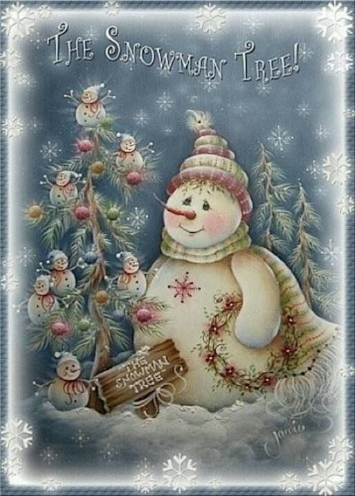 ....Snowman tree...great as desk top wallpaper or a greeting card...
