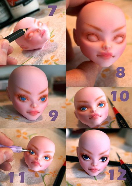Monster High Repaint Tutorial Page 2, via Flickr.
